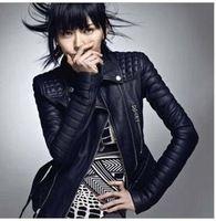 Women's 2013 genuine leather motorcycle clothing female fashion short design autumn outerwear