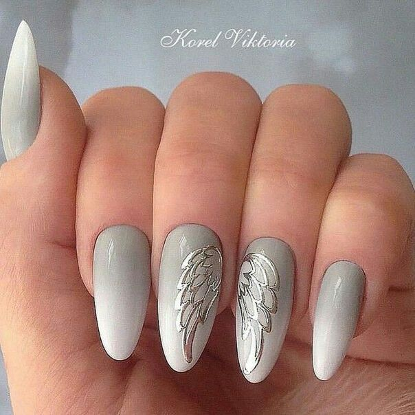 Angelic Nails! | paznokcie | Pinterest | Angel wings, Angel and Manicure