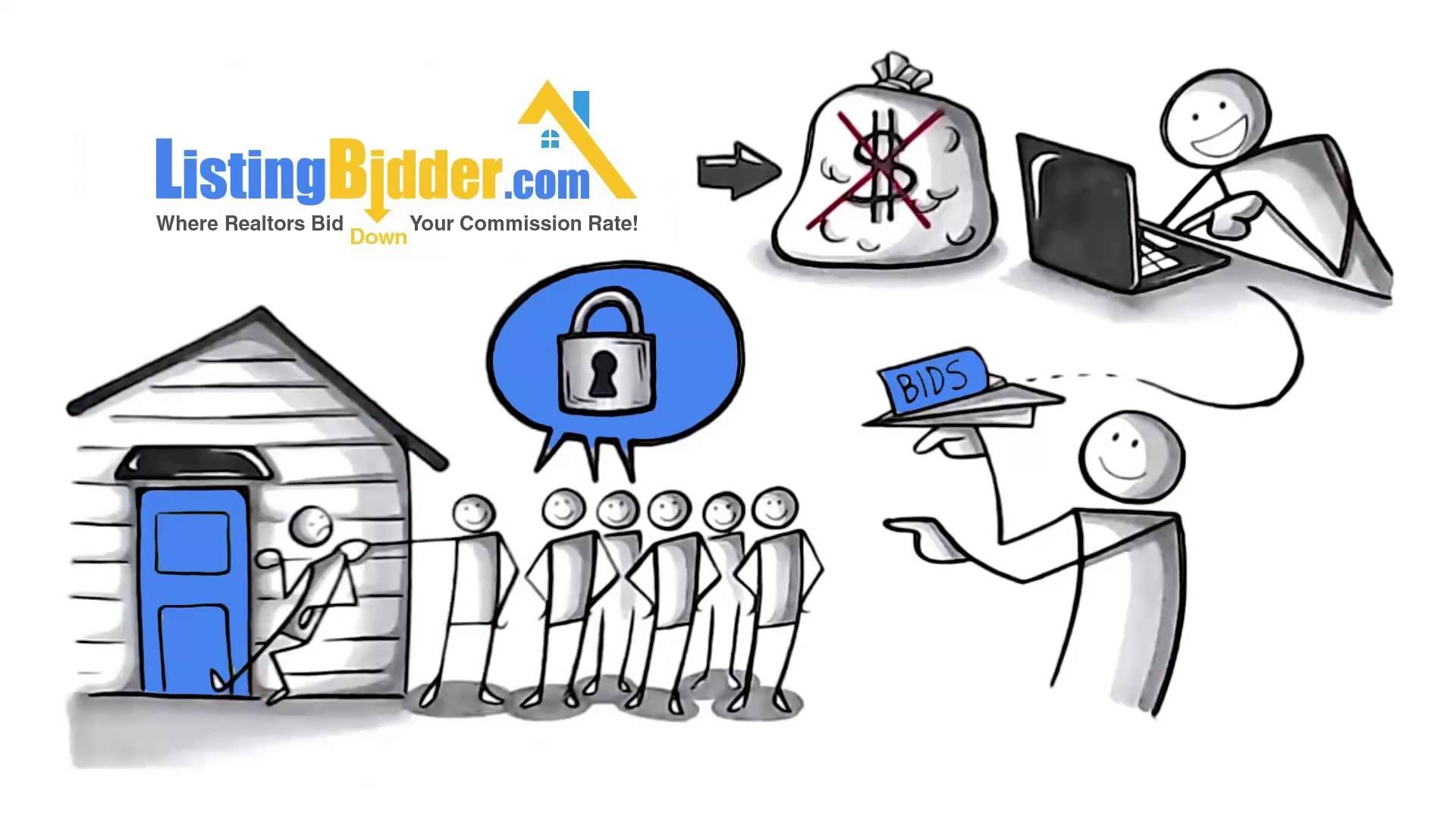 Selling your Home? ListingBidder.com is a free platform for Sellers who want to sell real property and wish to invite their list of realtors to bid down their commission rate so they can SAVE THOUSANDS.  Sellers can anonymously interview multiple local Realtors and watch Realtors bid against each other. There is NO obligation & the Seller remains anonymous. The Seller can even continue to invite more Realtors to bid during the auction. (Patent pending free market commission bid reverse…