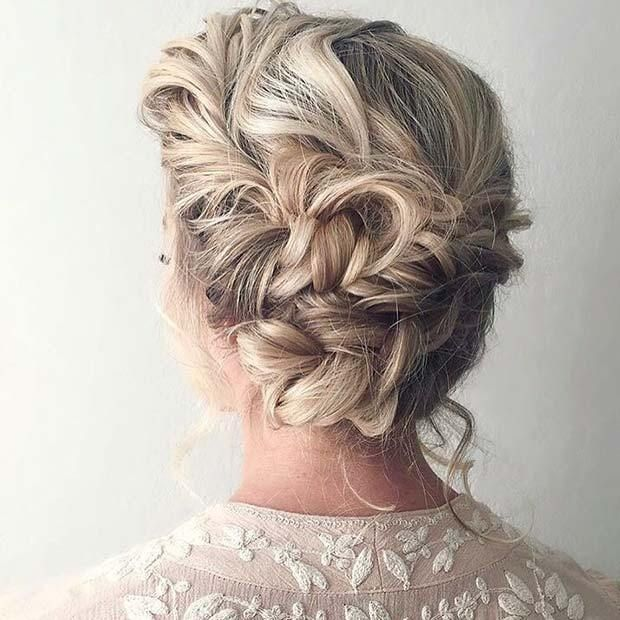 21 Most Outstanding Braided Wedding Hairstyles: 21 Cute Hairstyle Ideas For The Holidays: #1. ELEGANT UPDO