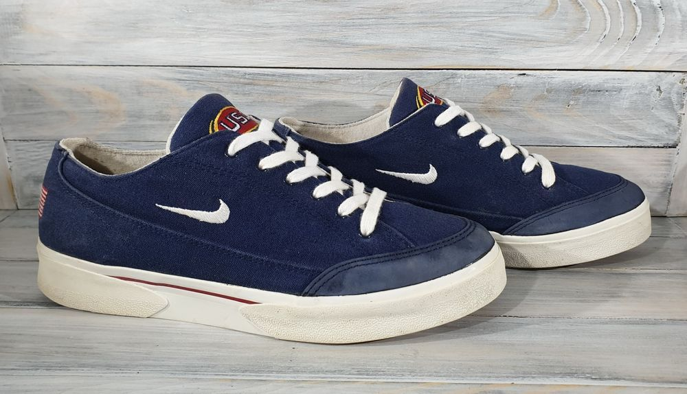 Vintage Nike Canvas Gts Sc Low Olympic Usa Shoes 640025 411 Men S Size 10 Rare Usa Shoes Vintage Nike Vintage Sneakers