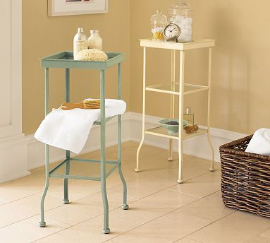 Painted Metal Accent Table Small