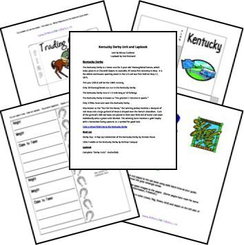 Kentucky Derby Unit and Lapbook level 4 unit study created
