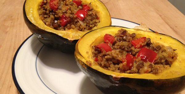Meatless Monday: Lentil & Quinoa Stuffed Acorn Squash