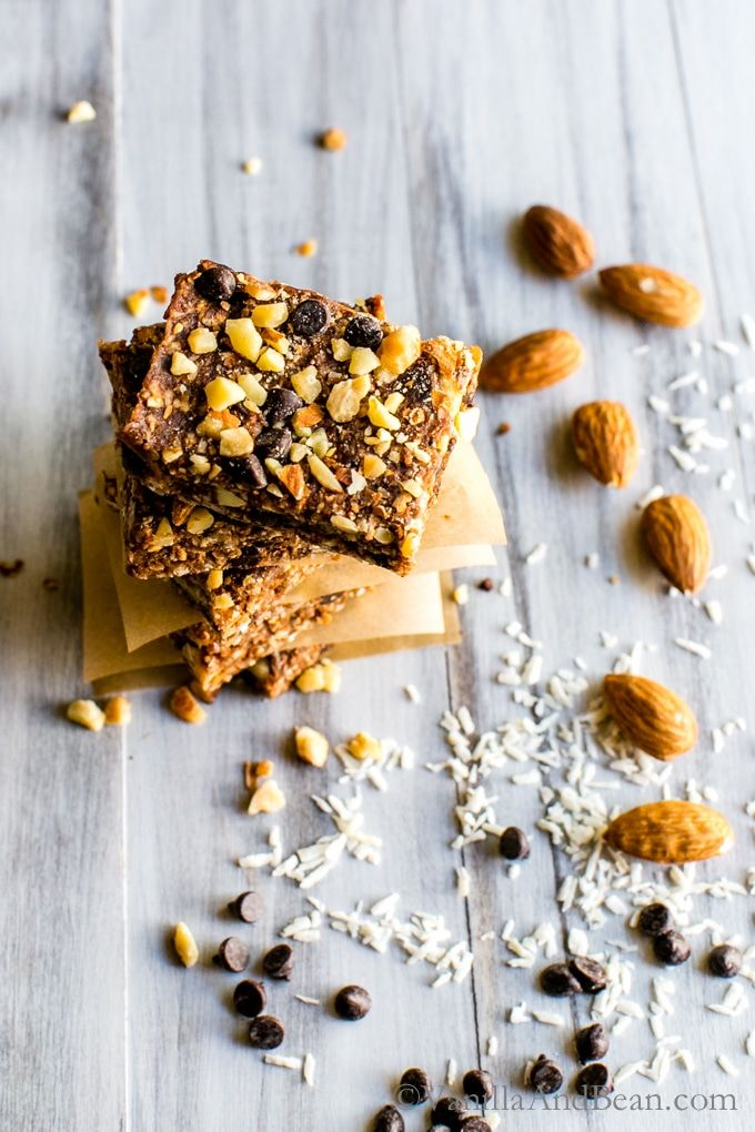 No Bake Vegan Chocolate Almond Coconut Bars From My Newly