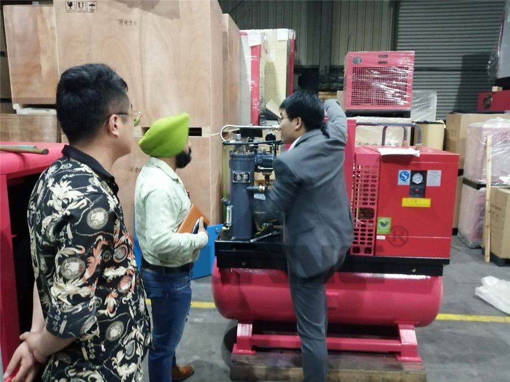 Indian Customers of Elang direct air compressor Air