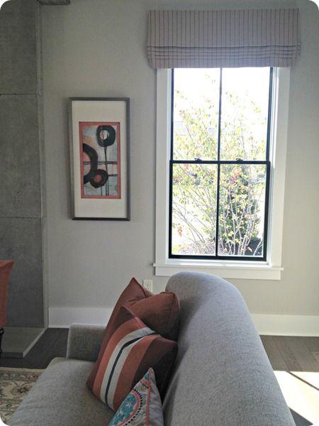 Dark Window Grids With White Frame