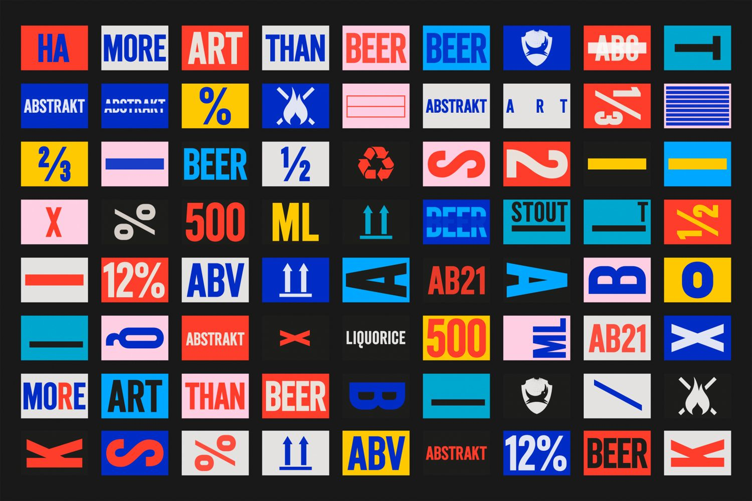 New Branding For Brewdog S Abstrakt By O Street Bp O Poster Design Branding Design Typography