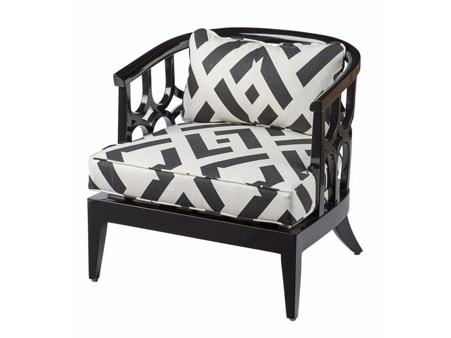 Chair Cushions In China Club In Nero By Diane Von Furstenberg For Kravet