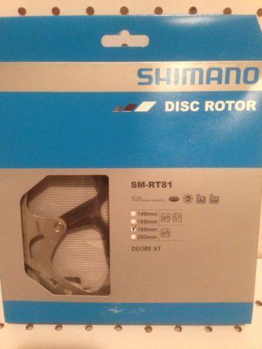 SHIMANO Deore XT SM-RT81-S Disc Brake Rotor Centerlock 160mm Ice Technology 2pcs