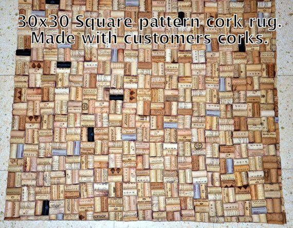Alfombra de ba o hecha con corchos reciclados por intrepidillusions decoracion - Alfombra de corchos ...