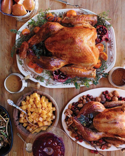 Roasted Heritage Turkey With Aromatic Brine Recipe Thanksgiving