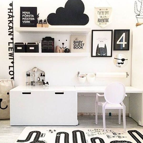 8 Stylish Ikea Hacks For A Black And White Kids Room The