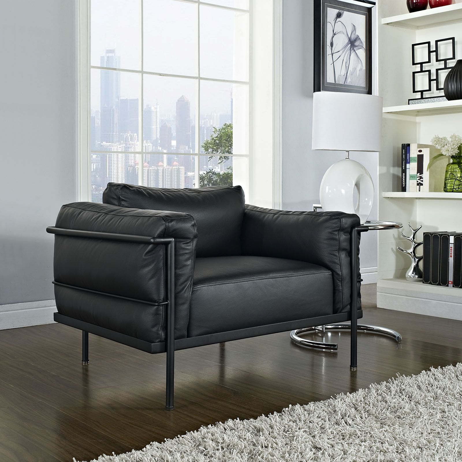 Le Corbusier Lc3 Grand Confort Chair Reproduction The Modern Source 6 Furniture Black Modern Furniture Leather Armchair