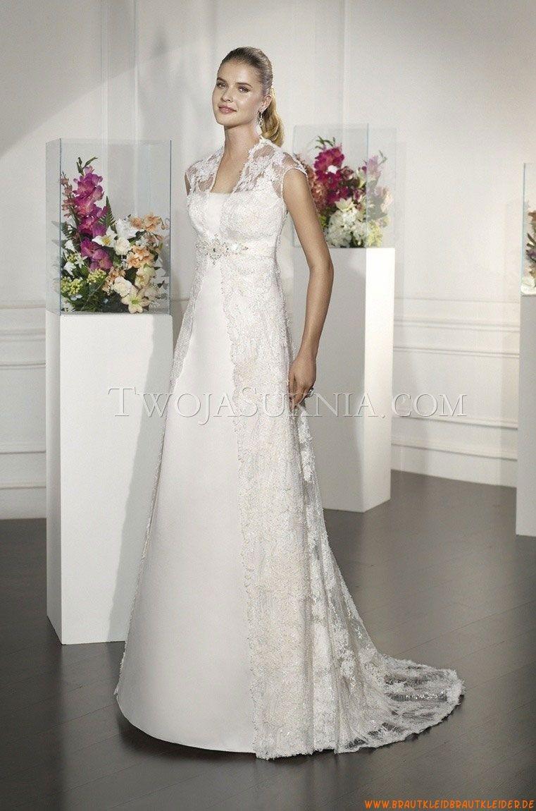 V-neck Kolumne Elegante Brautkleider 2014 aus Spitze aus Spitze ...