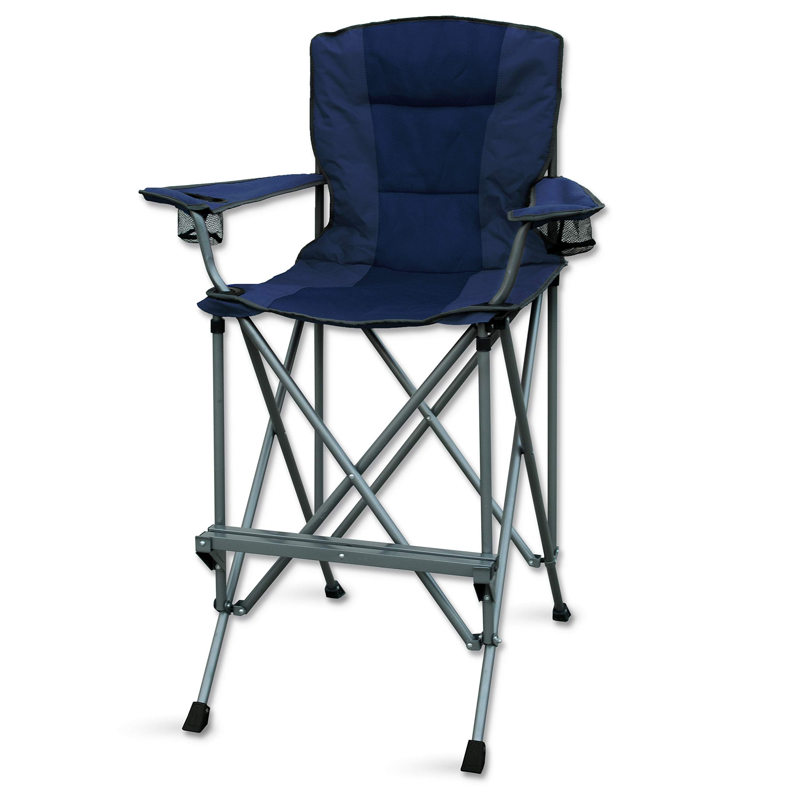 Rms Outdoors Extra Tall Folding Chair Bar Height Director Chair For Camping Home Patio And Sports Por In 2020 Folding Chair Directors Chair Outdoor Folding Chairs