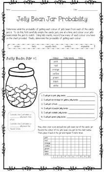 Jelly Bean Jar Probability Munchie Math Jelly Bean Jar Jelly