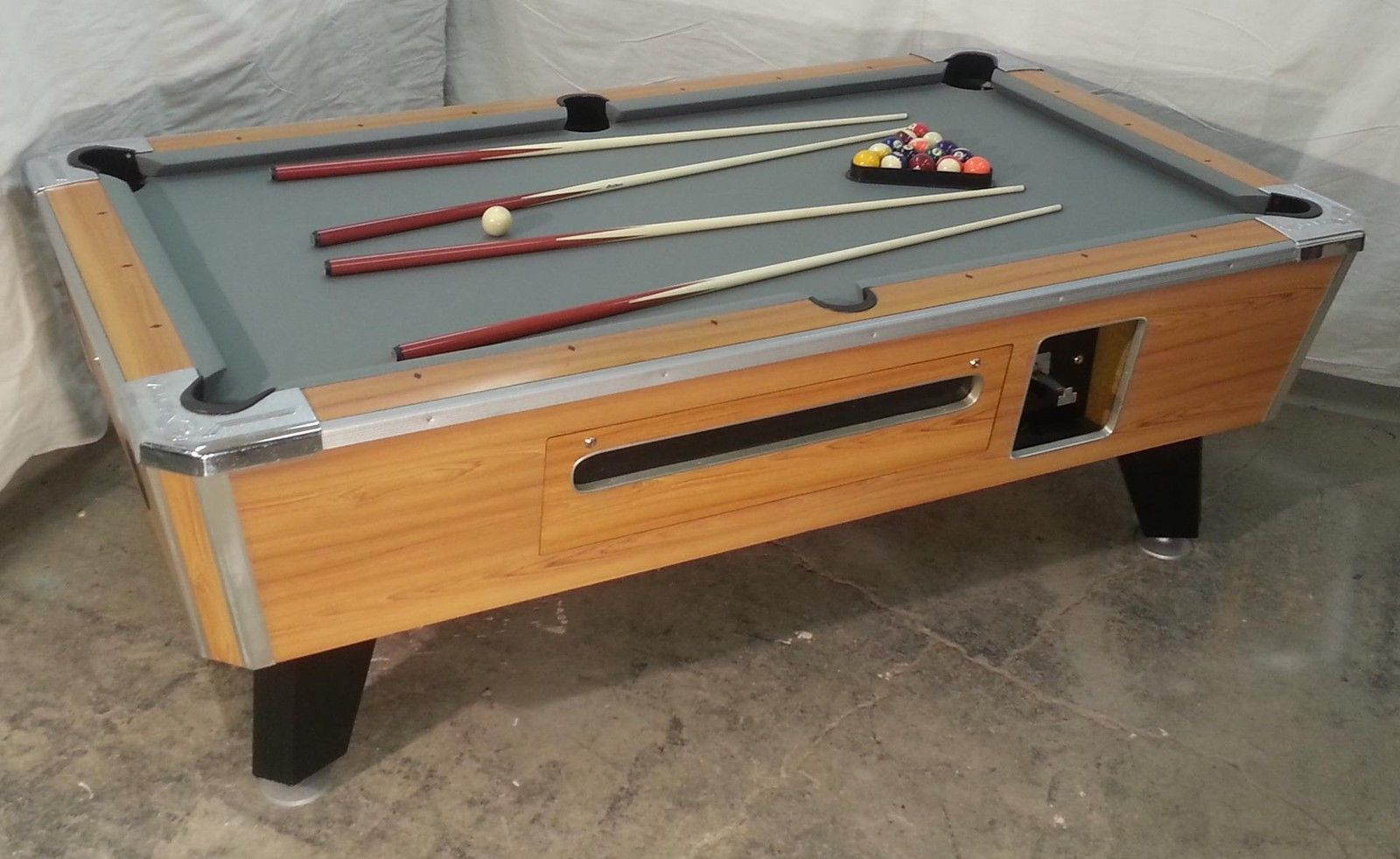 Valley Cougar Zd 7 Coin Op 7u0027 Bar Size Pool Table Totally Refurbished