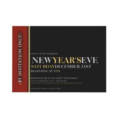 exclusive new years eve party custom invitation by reflections06