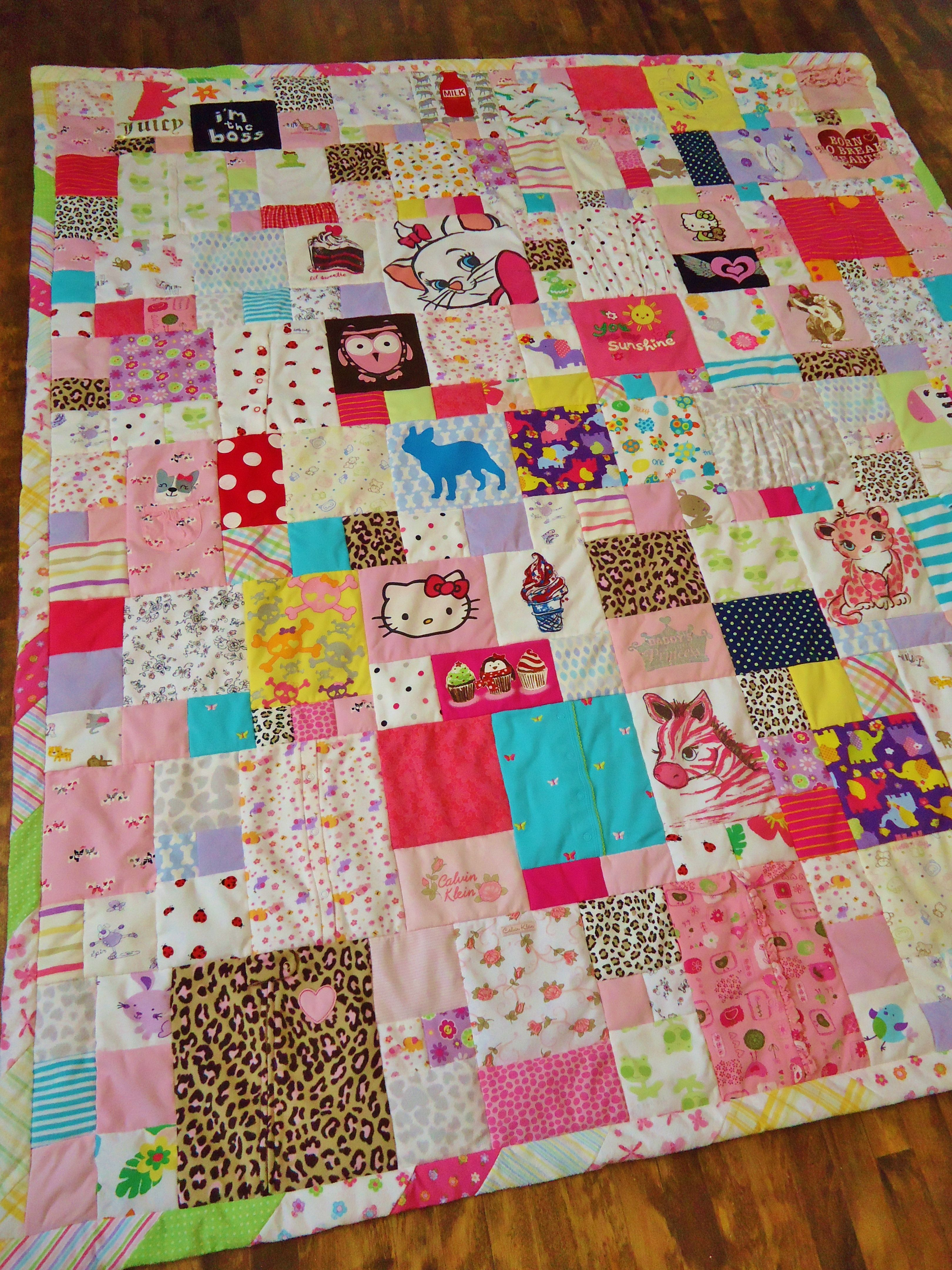 Baby Clothes Quilt Lux Keepsake Quilts Blanket
