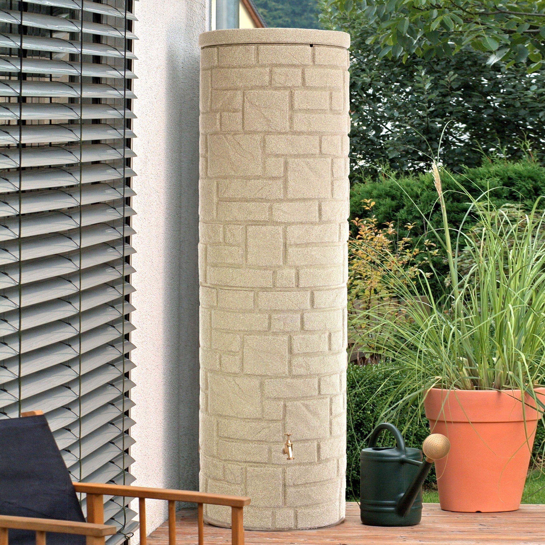 regenwassertank oberirdisch arcado 460 l sandstein | backyard