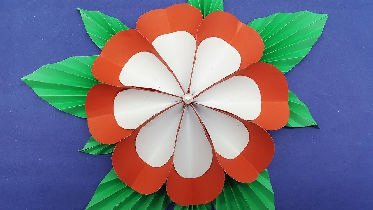 Origami Paper Flower Easy With Colors Paper Diy Paper Flowers