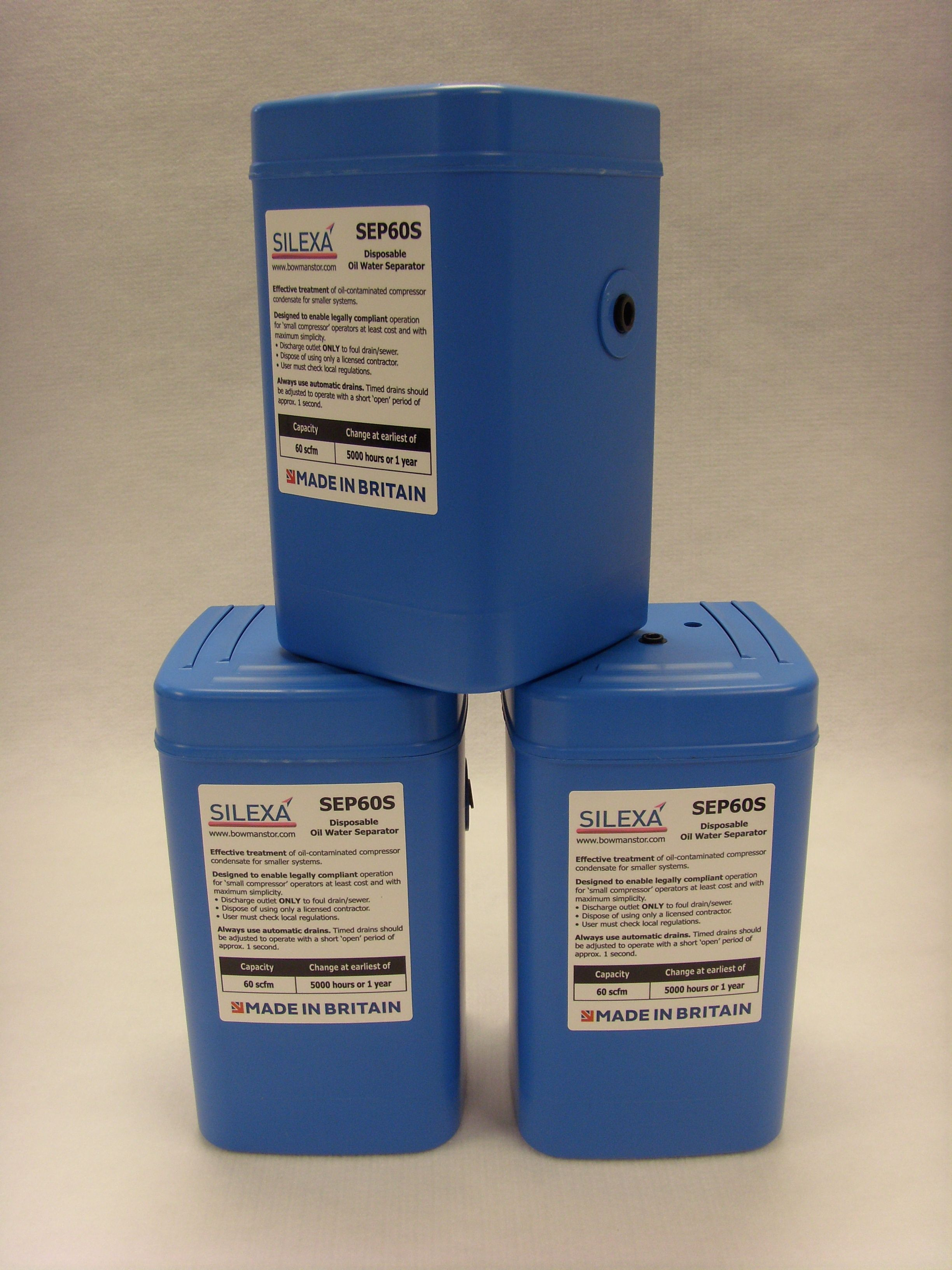 A stack of SEP60S's Separators, Bowman, Oil water