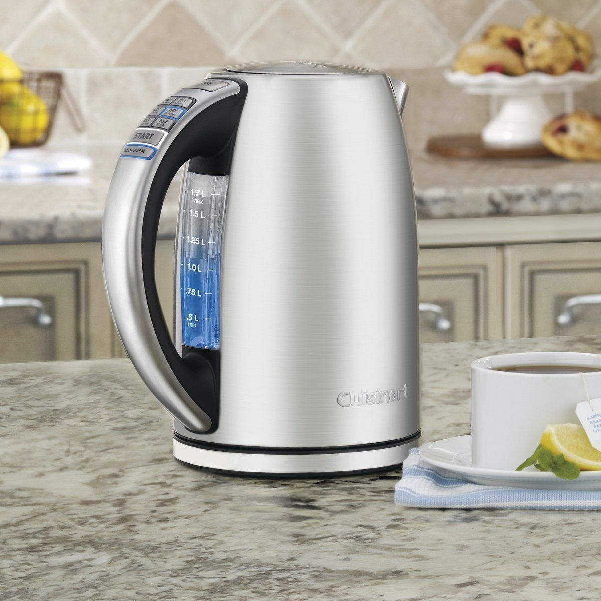 Cuisinart CPK-17 PerfecTemp 1.7-Liter Stainless Steel Cordless Electric Kettle: Kitchen & Dining