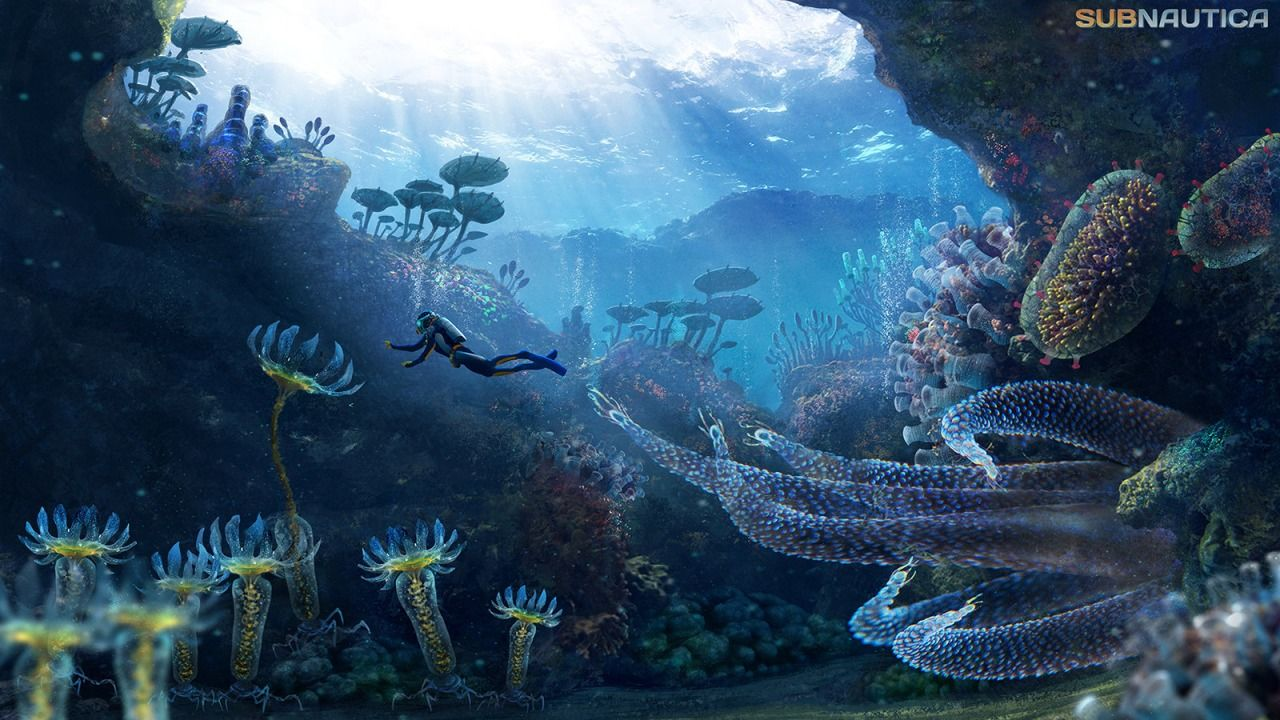 Subnautica Alien Sea This Is One Of The Earliest Paintings I