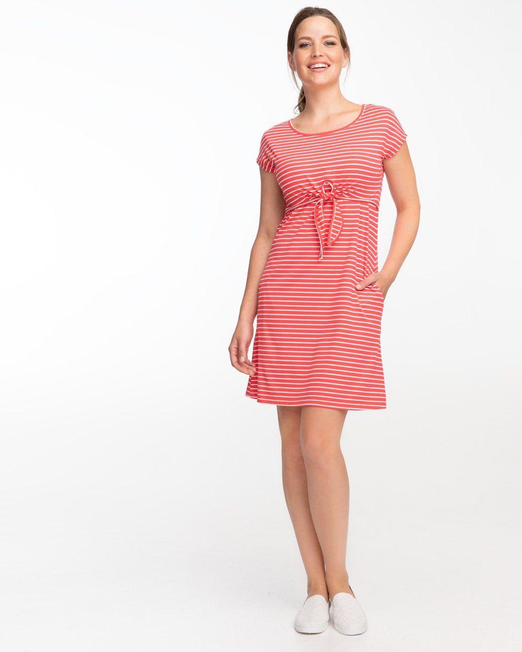 0b3c0c93a2c Watermelon Stripe Tie Front Nursing Dress in 2019