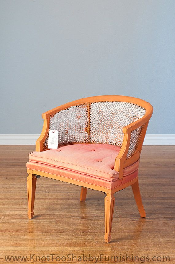 Boho Barrel Chair Cane Back Sassy Retro Orange Upholstered 65 00 Outdoor Dining Chair Cushions Lounge Chairs Living Room Dining Chair Cushions