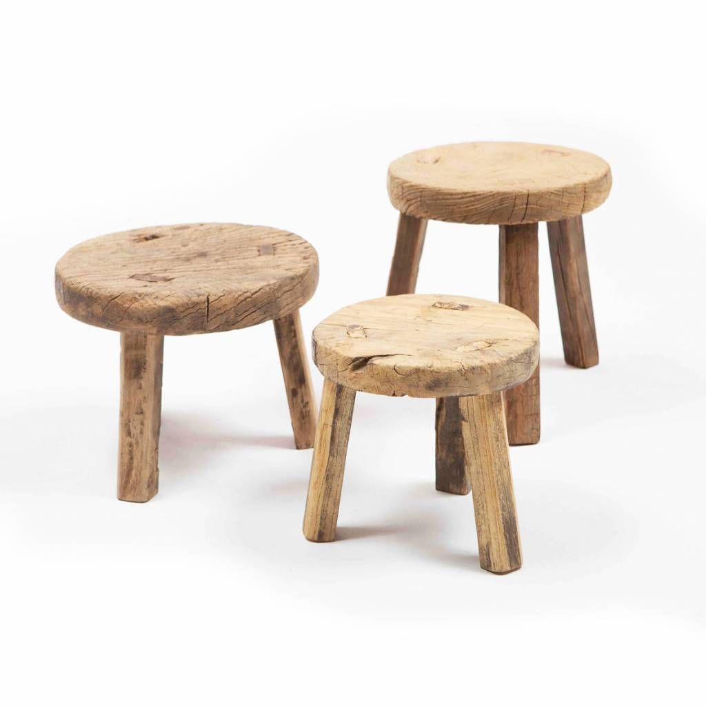 Brilliant Small Round Wooden Stool In 2019 Wooden Stools Small Ocoug Best Dining Table And Chair Ideas Images Ocougorg