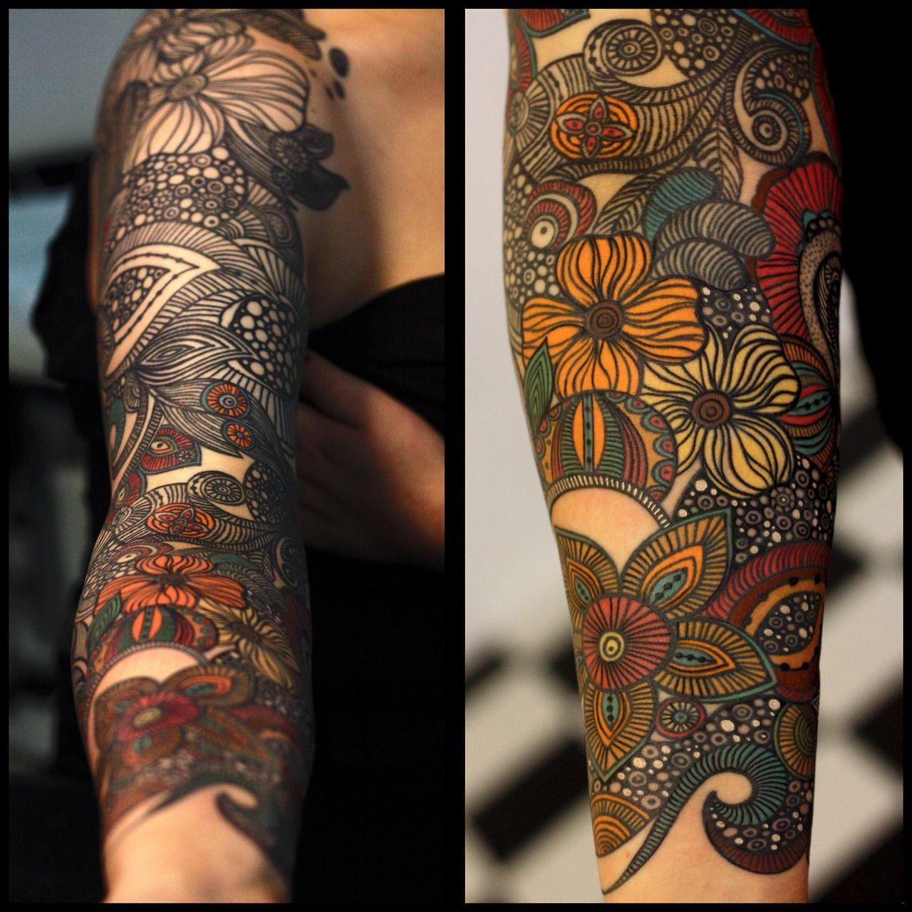 Sleeve Tattoo Filler Designs: #tattoo #ink Pinterest.com/heymercedes
