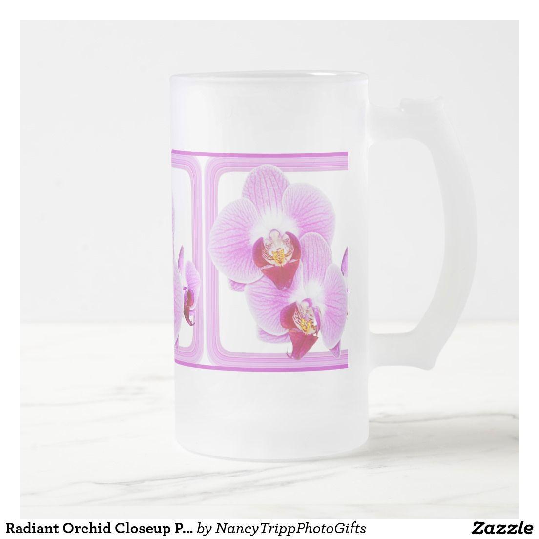 Taza De Cristal Esmerilado Fotografía floral de la orquídea radiante ...