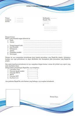 Format Surat Lamaran Pekerjaan Terbaru