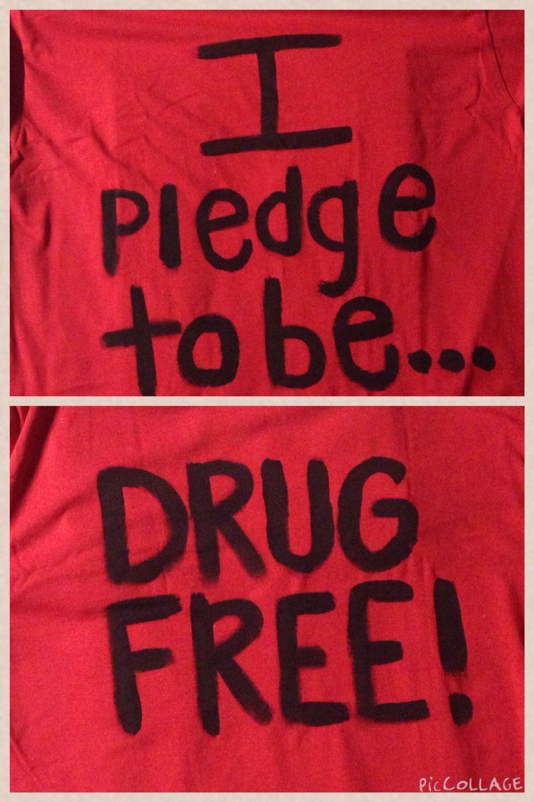 I pledge to be drug free shirt for Red Ribbon Drug free