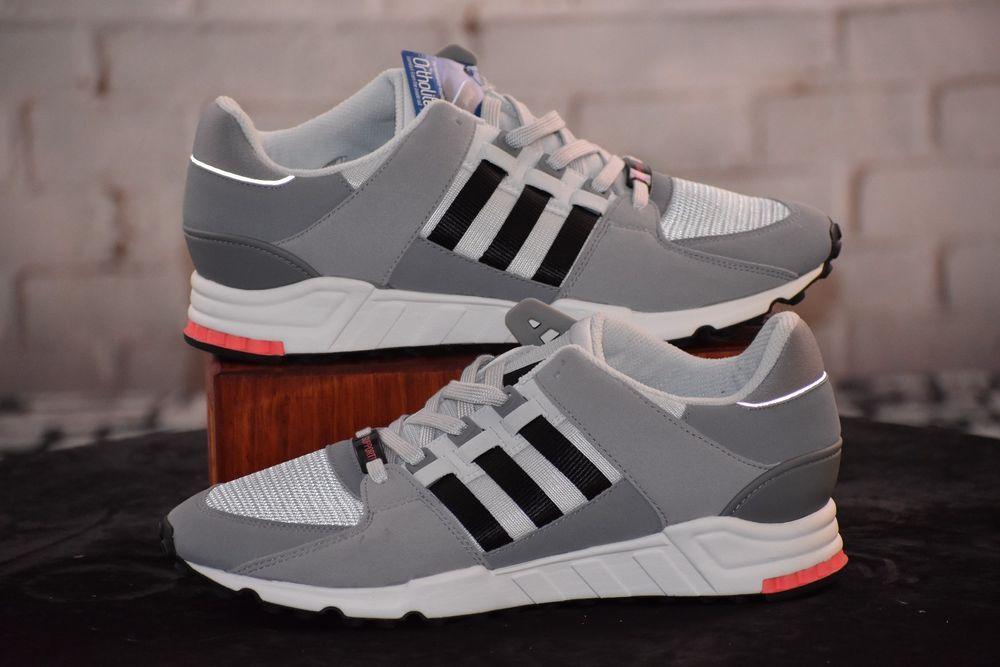 nuove adidas bb1322 uomini eqt sostegno delle scarpe da corsa grigio nero
