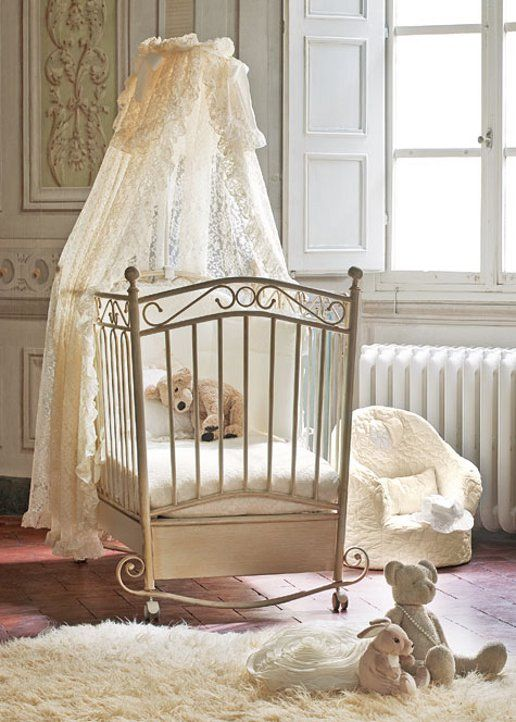 339cb673695 Βρεφικό δωμάτιο - Βρεφικά κρεβάτια - Κούνιες για μωρά - Μεταλλικό κρεβάτι  Picci σχέδιο Alina (antique cream)