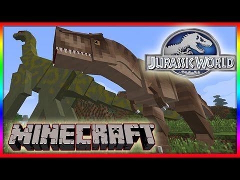 Minecraft 1 8 Jurassic World Mod Showcase! Dinosaurs