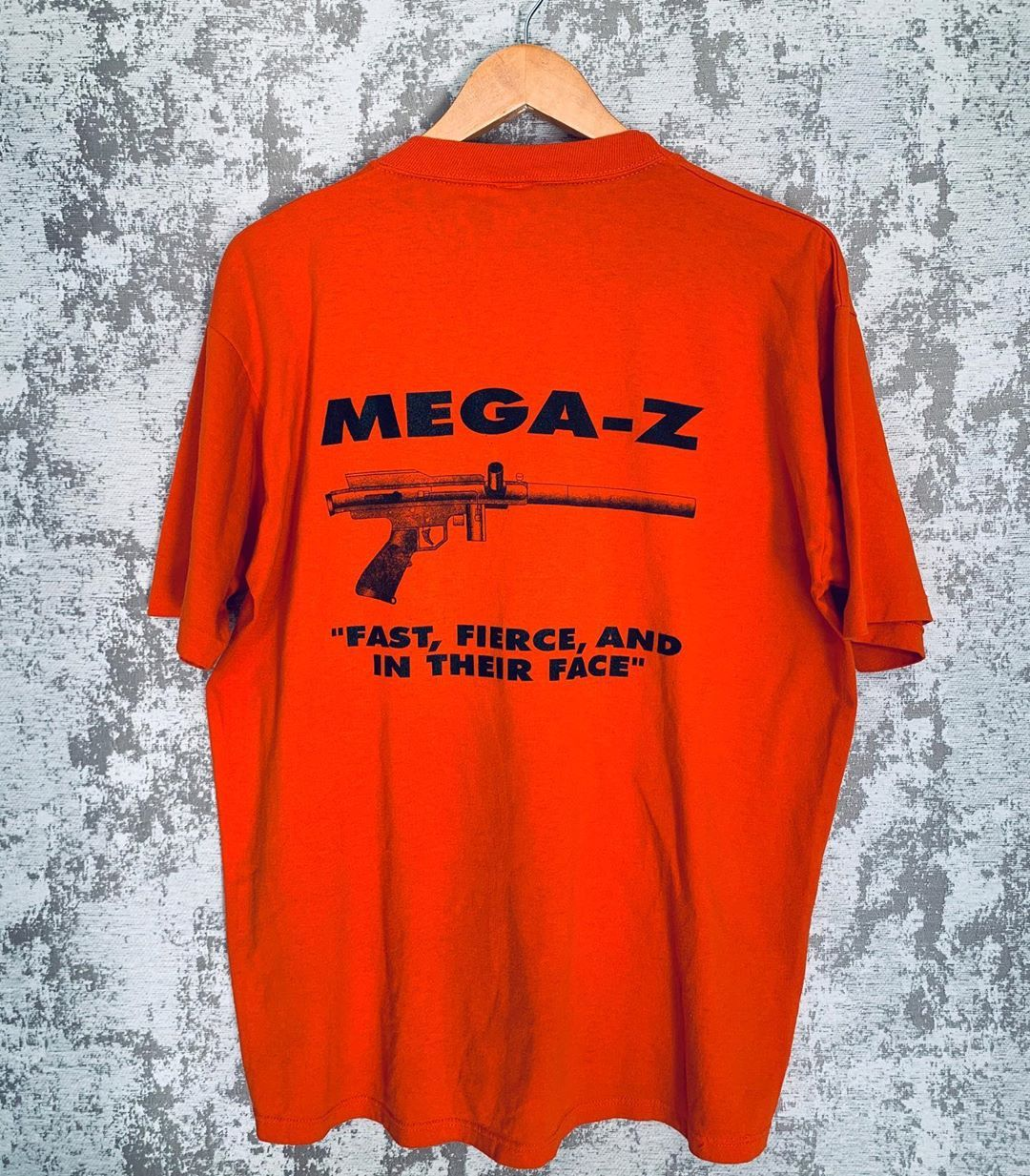"Vinti Threads on Instagram: ""Vintage Mega-Z Paintball Gun Tee Double-Sided Sz XL  . . . . . . #vintage #singlestitch #madeinusa #paintball #paintballgun #megaz #forsell…"""