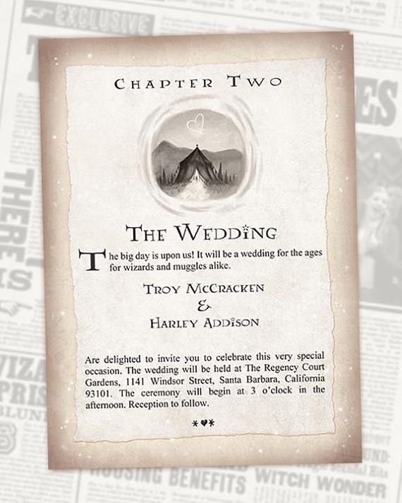 Chapter 2 Formal Wedding Invitation Book