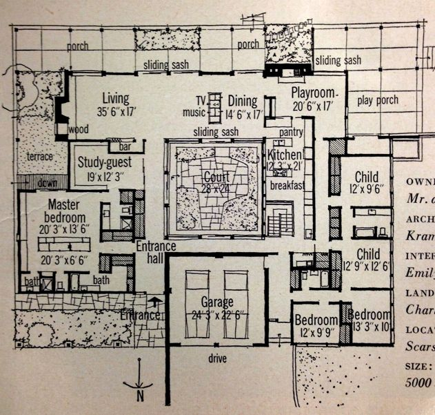 Mid century modern house plan luxurious layout would love to make a layout like this courtyard
