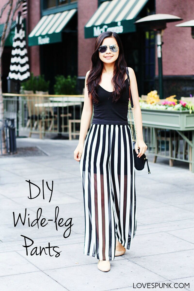 DIY Wide-leg Pants- A super easy tutorial with step-by-step ...