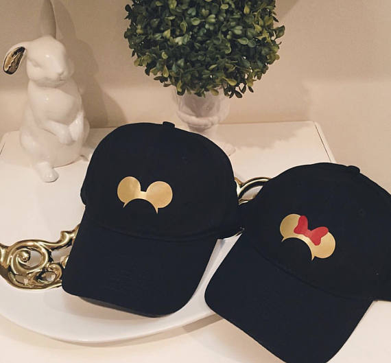 abcb5c8d64c Disney Minnie and Mickey Hats  Couples Hat   Disney Couple   His and ...