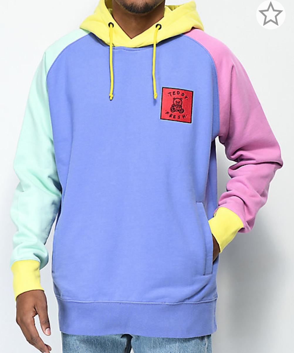 Teddy Fresh Colorblock Hoodie Zumiez Zumiez Outfits Hoodie Fashion Hoodie Zumiez [ 1202 x 1002 Pixel ]