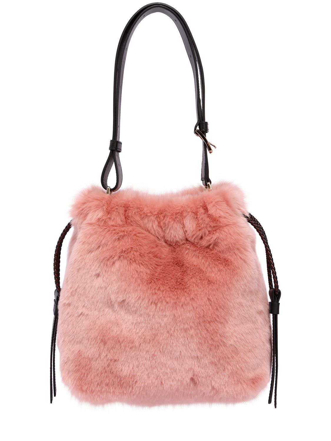 FURLA CAO CAOS FAUX FUR BUCKET BAG.  furla  bags  shoulder bags  fur   bucket  lining   d14db3e4aa