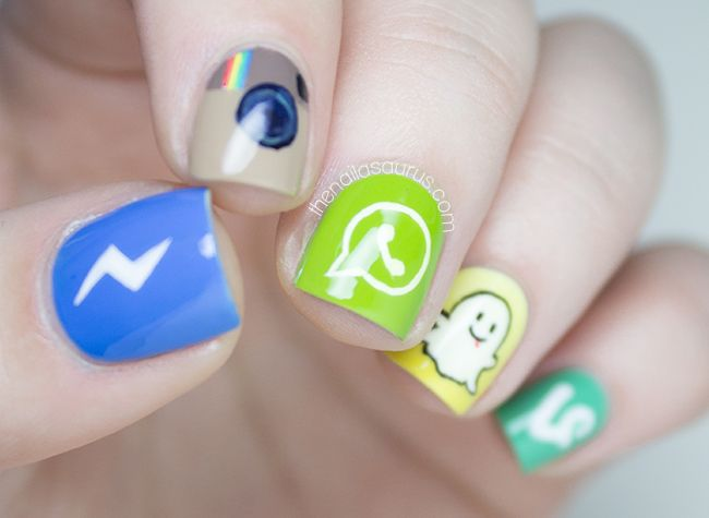 Social Media Apps Nail Art | Social media apps, Uk nails and Nail ...