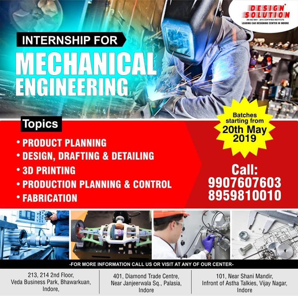 Design Solution Offers Internship Program For Mechanical