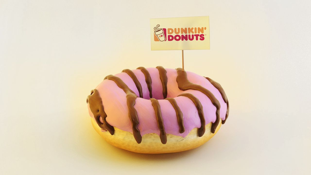Dunkin' Donuts  3D Model & Render