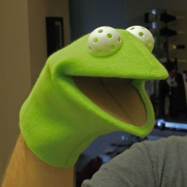 Kermit research thread puppets pinterest kermit for Frog finger puppet template